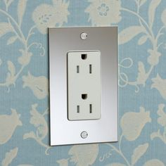 Nickel Silver Outlet with Light Almond Insert