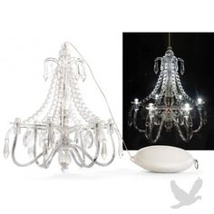 White washed candle chandelier use with battery operated candles mini led imperial chandelier centerpiece lights hot 2998 aloadofball Choice Image