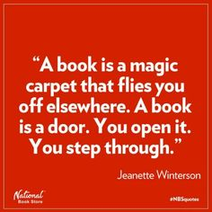 A book is a magic carpet that flies you off elsewhere.It is a door, you open it and step through. Reading Quotes, Book Quotes, Me Quotes, I Love Books, Books To Read, Never Be Alone, I Love Reading, Book Nooks, Book Nerd