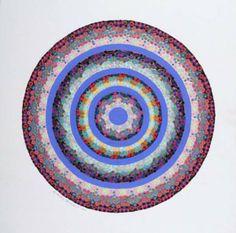 Liz Whitney Quisgard,Yaddo Tondo #6;Acrylic on illustration board