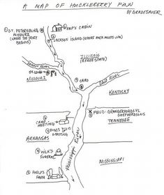The Adventures of Huckleberry Finn Map of Huckleberry Finn | GradeSaver