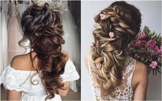 Wedding Updo Hairstyles for Long Hair from Ulyana Aster / http://www.deerpearlflowers.com/wedding-updo-hairstyles-for-long-hair-from-ulyana-aster/