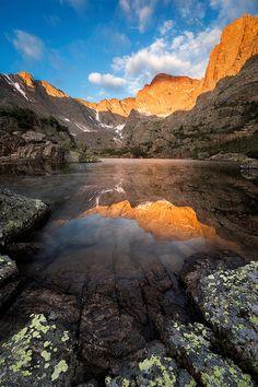 Glass Lake, Loch Vale. Rocky Mountain National Park, Colorado; photo by .Wayne Boland