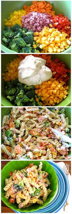 Ranch Pasta Salad. Its still warm weather here, so this salad will be a hit at my house. #pasta #noodles #recipe #easy #recipes