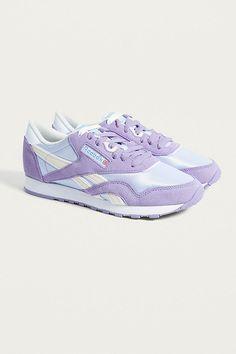 separation shoes c9aeb cdd30 Reebok Classic Nylon Lilac Trainers