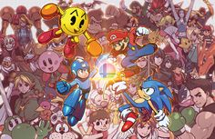 SMASH! by Robaato (Nintendo: Super Smash Bros. - Mario, Sonic, Megaman, Pac-Man)