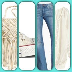 """Casual #hippie style: jeans #h&m, #converse  Per un look casual ma con un tocco """"figli dei fiori"""" che non guasta mai!!"""
