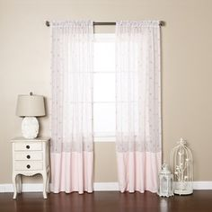 Shop for Aurora Home Pink Sheer Rose Checkered Rod Pocket 84-inch Curtain Panel Pair. Get free delivery at Overstock.com - Your Online Home Decor Outlet Store! Get 5% in rewards with Club O!