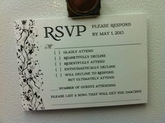 This is simply AWESOME. I wish I'd thought to send such wedding invites the first time I was married!!! :)