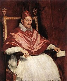 Diego Velázquez painted Pope Innocent X in 1650.