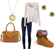 I dano about the moccasins with this outfit, but everything else is simple and prettyyy