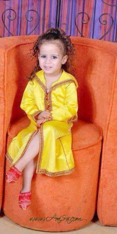 djellaba jaune pour petite fille