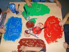 Técnicas de pintura para crianças