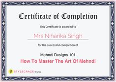 Mehndi Designs 101 - How To Master The Art Of Mehndi In Just 4 Hours