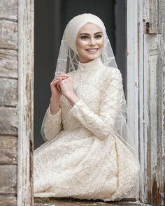 💫 You will shine on your wedding like a 🌟 Perfect Bride Perfect Wedding Dress 💫 📌 Custom Made Wedding Dress 📌 Crown 👑 & Hair Accessories 📌 Bouquet 📌Necklace & Earring For further information please contact with us via whatsapp dres Muslimah Wedding Dress, Hijab Style Dress, Disney Wedding Dresses, Hijab Bride, Muslim Brides, Pakistani Wedding Dresses, Bridal Dresses, Bridesmaid Dresses, Muslim Couples