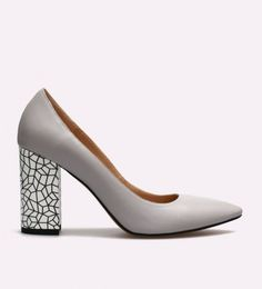Pantofi dama din piele cu toc gros Canos I