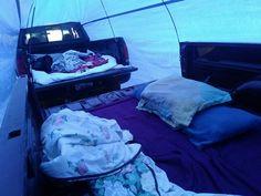 Redneck Campin' Tent Inside Off Grid Survival, Camping Survival, White Trash Bash, Backyard Camping, Tent, Life, Camping Ideas, Hacks, Summer