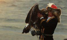 Young Kazakh female hunter. Photographer: Asher Svidensky