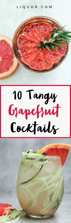 These tasty and tangy #grapefruit #cocktails are perfect for any occasion!