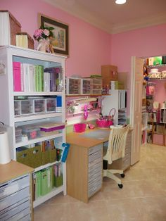 craft room , closet organization , art supplies, fabrics, scissors, glue, glitter, brushes, paint, ribbons , spools, nooks, paper , table, drawers , cubby holes , organization , drawers , doors , space to create ,ideas, sewing , wrapping , kid's area , modern , efficient , un-cluttered, work room, shelving , shelves, storage ,Expert Closets , Cape Cod