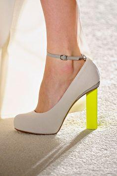 Rocksanda Ilincic..love the neon heel for a pop of color