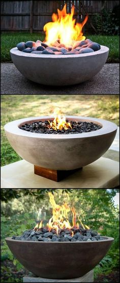 DIY fire pit designs ideas - Do you want to know how to build a DIY outdoor fire pit plans to warm your autumn and make s'mores? Find inspiring design ideas in this article. Fire Pit Bowl, Fire Pit Ring, Fire Bowls, Diy Fire Pit, Fire Pit Backyard, Outdoor Fire Pits, How To Build A Fire Pit, Garden Fire Pit, Outdoor Patios