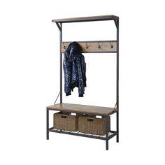 Union Rustic Traci 3 Shelf 39 in. Wide Metal/Wood Hall Tree