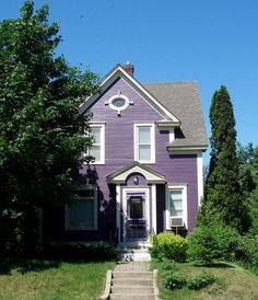 So adorable - I want a purple house!