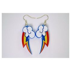 Cutie Mark Earrings?!? :) My Little Pony Rainbow Dash Cutie Mark... ❤ liked on Polyvore featuring jewelry, earrings, rainbow jewelry, pandora jewelry, womens jewellery, my little pony and my little pony jewelry