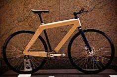 wooden frame bike