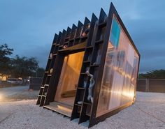 Yves Béhar showcases his sweet handmade surfboard in a temporary Miami Surf Shack is part of architecture - Yves Béhar built a temporary installation as a showroom for his handcrafted surfboards in Miami Design District Surf Shack, Kiosk Design, Booth Design, Contemporary Bedroom, Contemporary Furniture, Contemporary Design, Contemporary Building, Contemporary Wallpaper, Contemporary Office