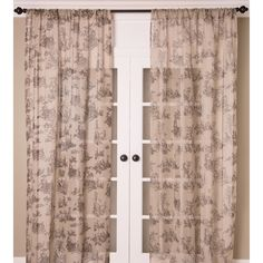 India's Heritage Toile Sheer Rod Pocket Single Curtain Panel Color: Natural, Size: W x L Off White Curtains, Toile Curtains, Sheer Linen Curtains, Sheer Curtain Panels, Printed Curtains, Rod Pocket Curtains, Curtains For Sale, Custom Curtains, Colorful Curtains
