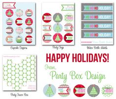 Free Christmas Printables from Party Box Design