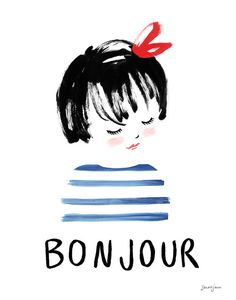 Bonjour by sarahjanestudios on Etsy