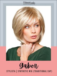 This layered look has a tapered back with loose shattered lengths throughout, allowing smooth or voluminous styling options in the crown and sides. #wigs #wigsmaker #wifglife #hairstyle #haircolor #hairstyles Gabor Wigs, Textured Bob, Layered Look, Synthetic Wigs, The Crown, Hair Color, Smooth, Cap, Hairstyles