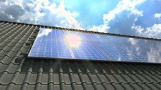 Ad: Solar panels modules on roof on a clear sunny day - Solar Energy, Solar Power, Wind Power, Renewable Energy, Save Planet Earth, Save The Planet, Solar Pannels, Solar System Projects, Miraculous Wallpaper