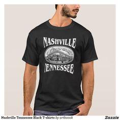 Nashville Tennessee Black T-shirts