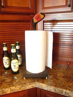 golf club = paper towel holder