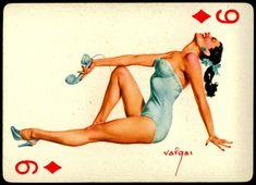 Playing Card Pinup | Tattoo Ideas & Inspiration - Pinups | Alberto Vargas (1896 - 1982) Playing Cards (Baraja)