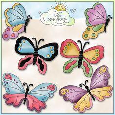 Just Butterflies 1 - NE Cheryl Seslar Clip Art : Digi Web Studio, Clip Art, Printable Crafts & Digital Scrapbooking!