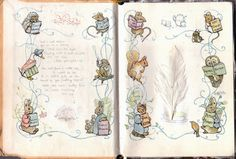 Beatrix Potter's sketchbook (author/illustrator of Tales of Peter Rabbit)