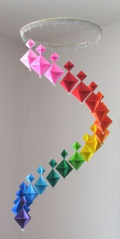 Diy origami super cool hangers<3