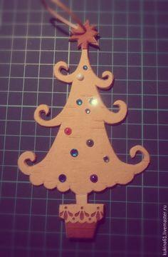 Купить елка плоская - разноцветный, елочные игрушки, елочные украшения, елочная игрушка, елочка