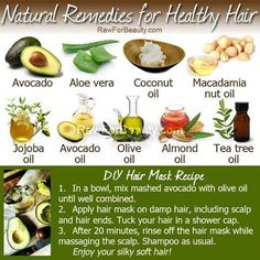 Natural remedies for healthy hair