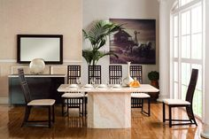 Exclusive Genoa Marble Dining Table with 6 Chairs