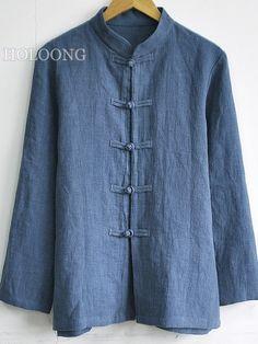 Custom Casual Linen Cotton-Linen Jackets Men Loose Jackets