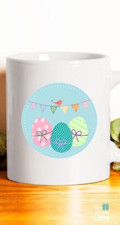 Happy easter ceramic coffee mug white 11oz ultimate easter spring ceramic mug easter coffee mug gift idea white 11oz cute gift negle Image collections
