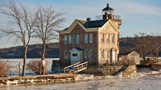 Built in 1869 on the Hudson River, today the Saugerties Lighthouse is a popular bed & breakfast and small museum in New York. Visitors spending the night can stay in one of the two guest rooms, each offering stunning views of the river and the Catskill Mountains.(Flickr/Anthony Quintano) | Most Unique Place to Spend the Night in Every State (PHOTOS) | The Weather Channel