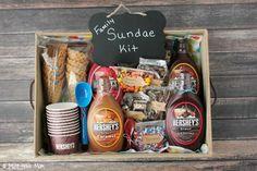This DIY family Sundae Kit is the perfect activity for every family! It's fun to make for your own family and it also makes a great neighbor gift