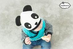 Freebook Pandamütze und Schal /Mütze für Babys und Kinder 38 - 58 nähene